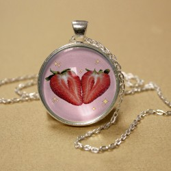 Sparkle Strawberries Pendant