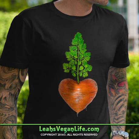Carrot Heart Vegan T-Shirt