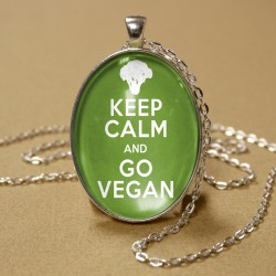 Keep Calm and Go Vegan Pendant
