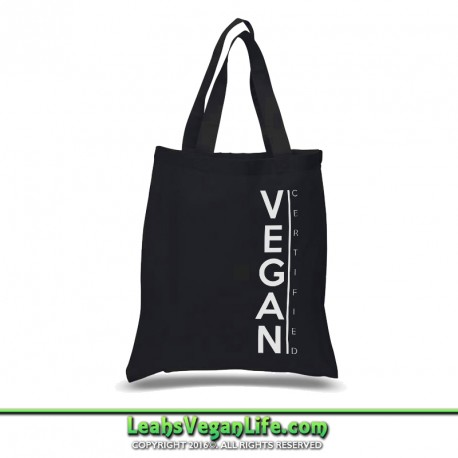 Certified Vegan Canvas Tote Bag - 100% Cotton