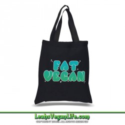Fat Vegan Canvas Tote Bag - 100% Cotton