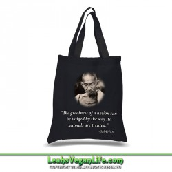 Ghandi Quote Vegan Canvas Tote Bag - 100% Cotton