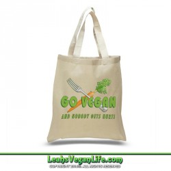 Go Vegan Canvas Tote Bag - 100% Cotton