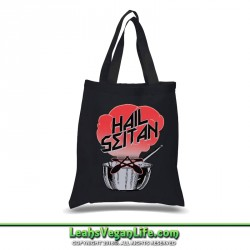 Hail Seitan Vegan Canvas Tote Bag - 100% Cotton