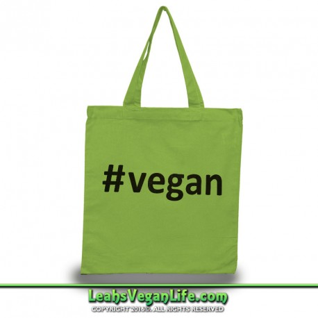 Hashtag Vegan Canvas Tote Bag - 100% Cotton