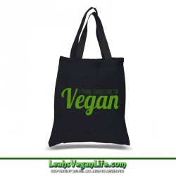 I Think Vegan Canvas Tote Bag - 100% Cotton