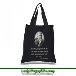 Jane Goodall Quote Vegan Canvas Tote Bag - 100% Cotton