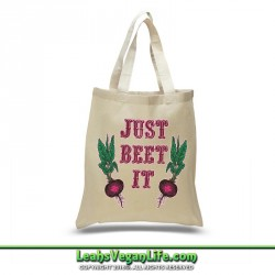 Just Beet It Vegan Canvas Tote Bag - 100% Cotton